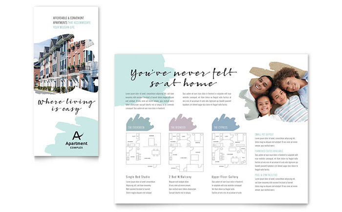 Apartment Brochure Template Design