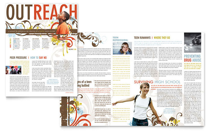 Church Ministry & Youth Group Newsletter Design