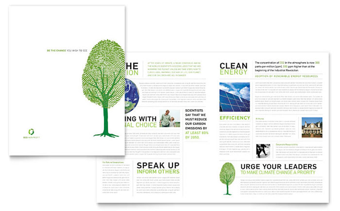 Environmental Non Profit Brochure Template Design
