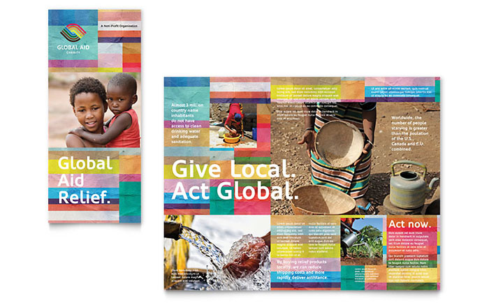 Humanitarian Aid Organization Brochure Template Design