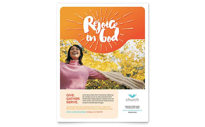 Church Flyer Template Design