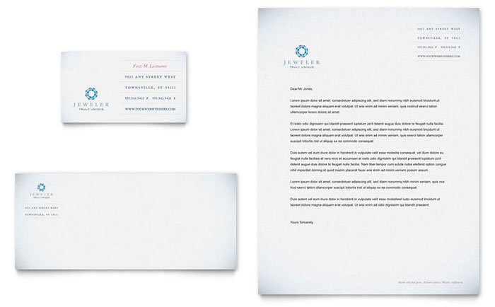 Jeweler & Jewelry Store Business Card & Letterhead