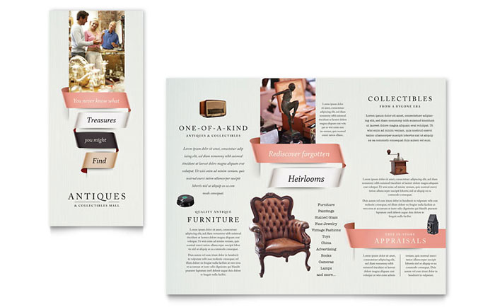Antique Mall Brochure Template Design