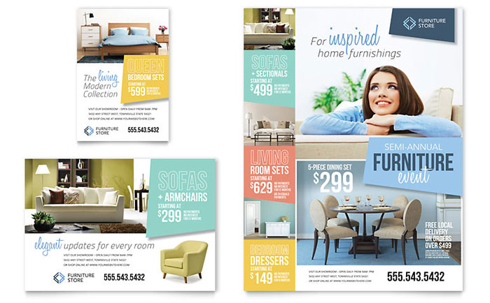 Home Furnishings Flyer Amp Ad Template Design