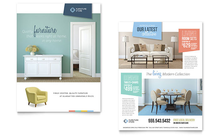 Home Furnishings Datasheet Template Design