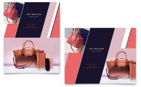 Designer Handbag Sale Poster Template Design