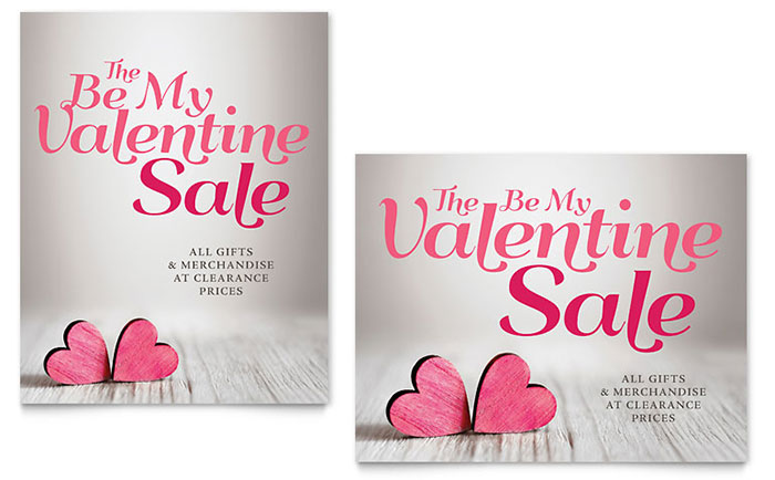 Valentine's Day Business Sale Poster