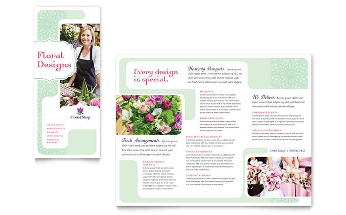 Florist Brochure Template Design
