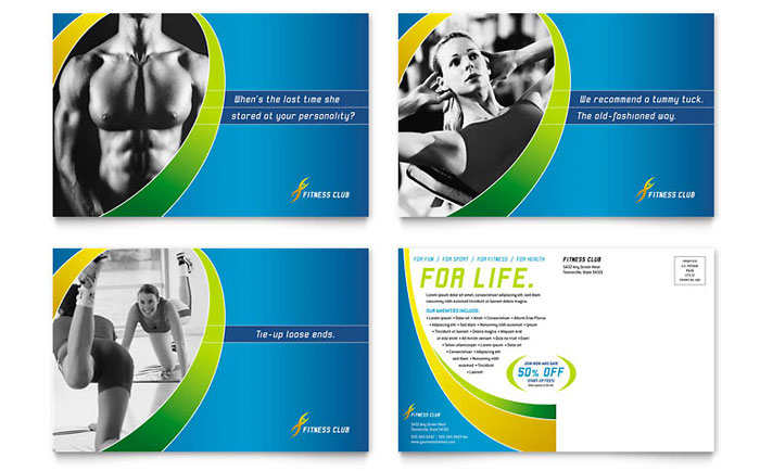 Fitness Club Ad Example