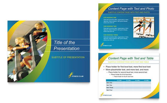 Sports & Health Club PowerPoint Presentation Template Design