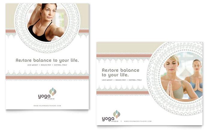 Pilates & Yoga Poster Template Design