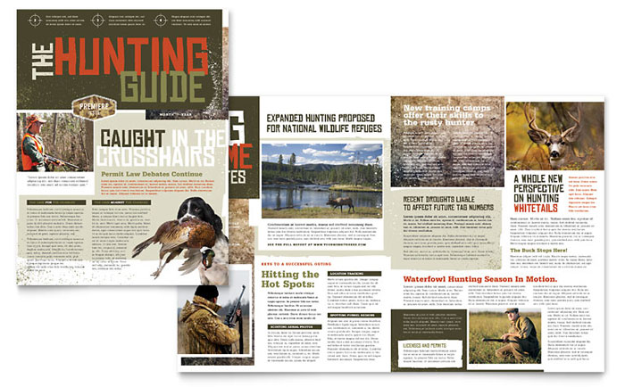 Hunting Guide Newsletter Design