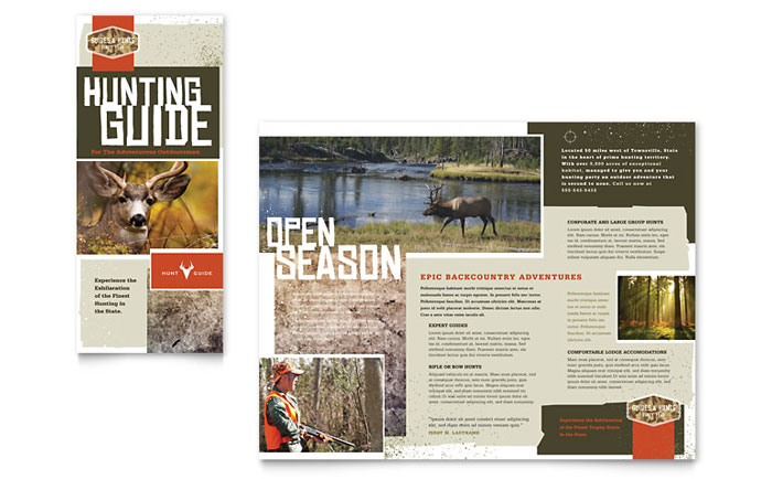 Hunting Guide Brochure Design