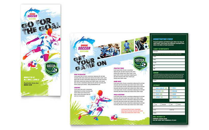 Youth Soccer Brochure Design