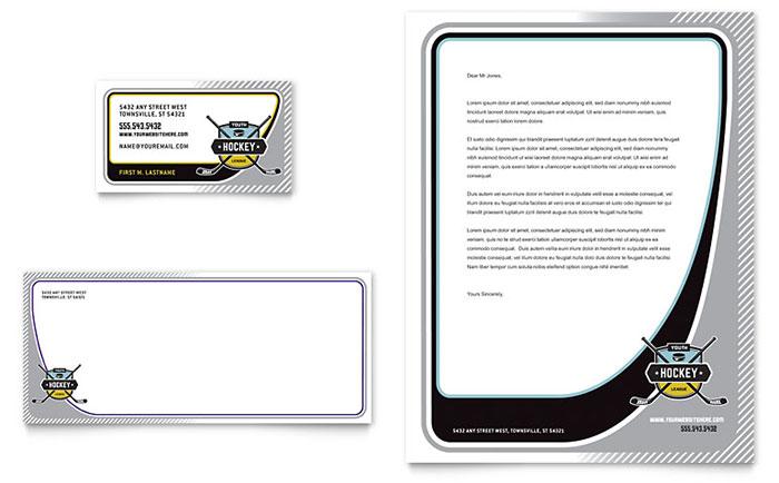 Hockey Camp - Business Card & Letterhead Design Sample
