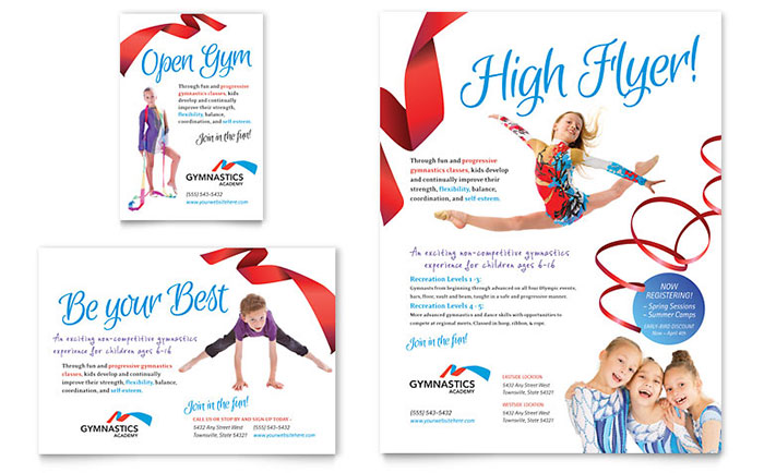 Gymnastics Academy - Flyer & Advertisement Design Example