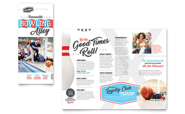 Sports & Fitness Marketing Brochures Flyers Postcards