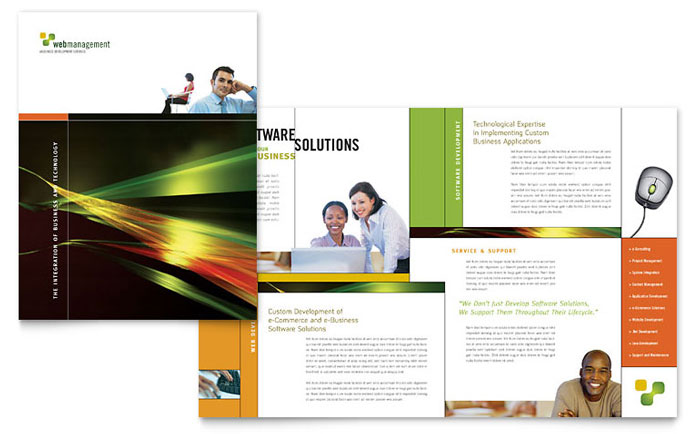 Internet Software Brochure Template Design