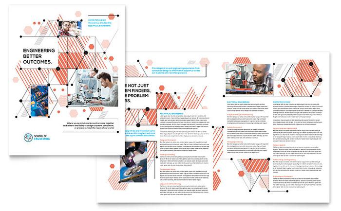 Computer Engineering Brochure Template Design