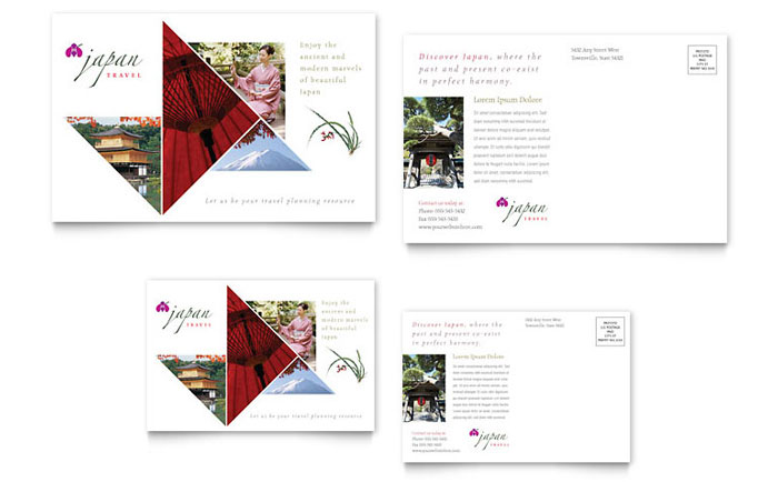 Japan Travel Brochure Template Design
