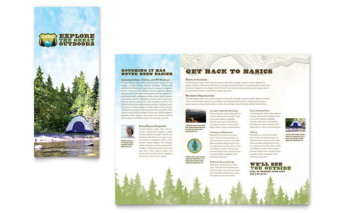 Nature Camping & Hiking Brochure Template Design