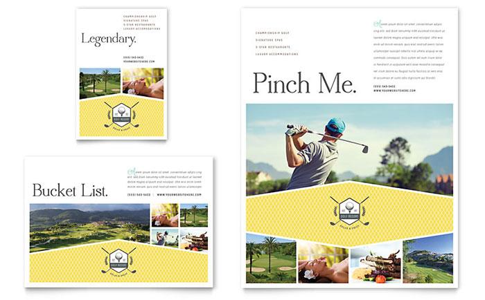 Golf Resort - Flyer Sample
