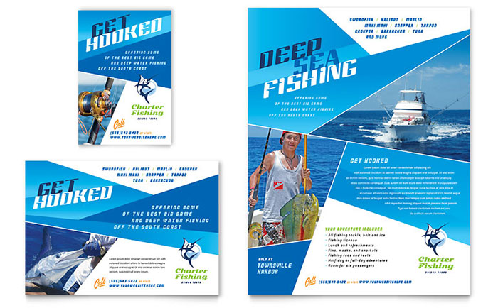 Fishing Charter Amp Guide Flyer Amp Ad Template Design