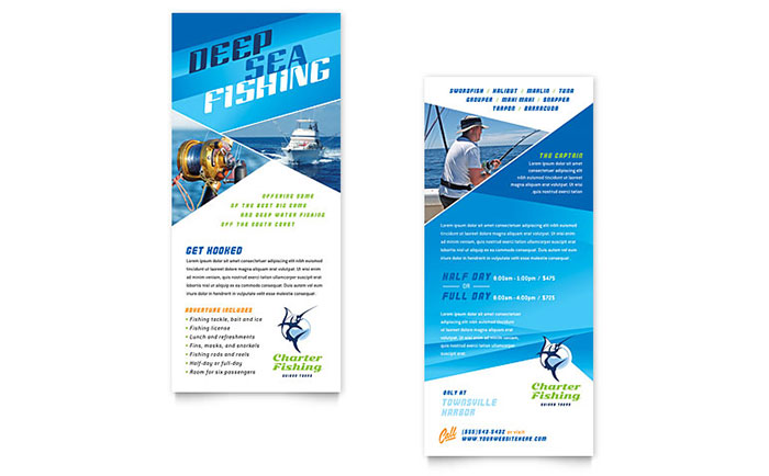 Charter Fishing - Rack Card Design