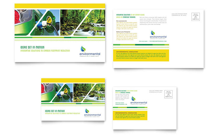 Environmental Conservation Postcard Design