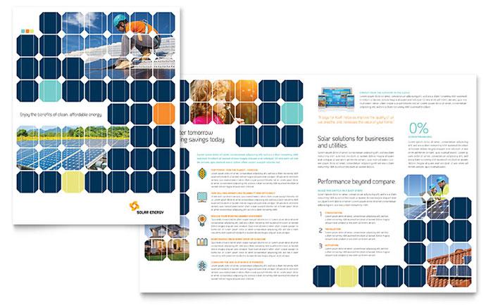 Solar Energy Brochure Template Design