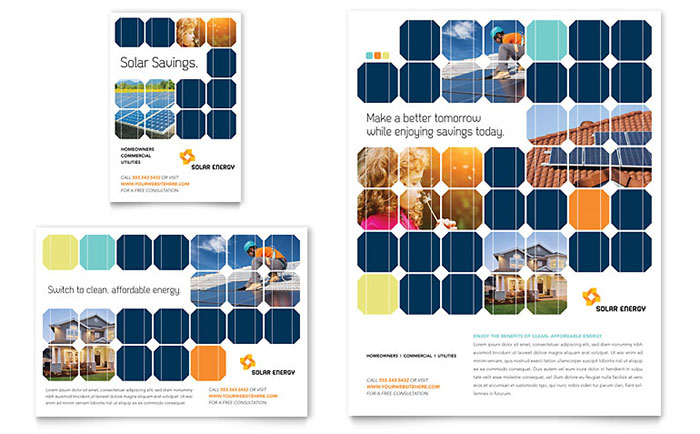 Solar Energy Advertisement Design Example
