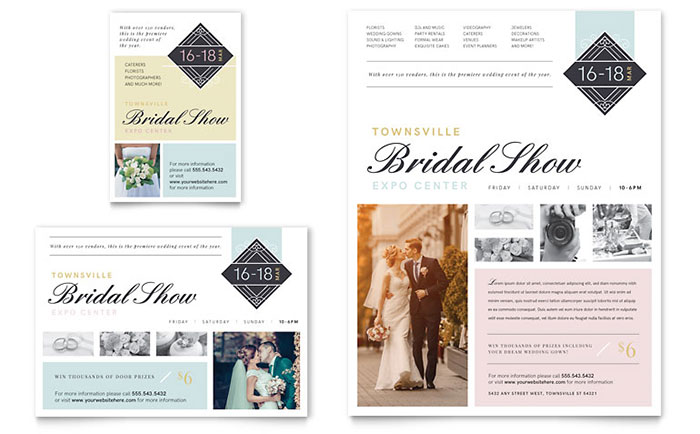 Bridal Show Flyer & Ad Template Design