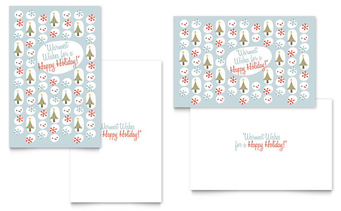Happy Holidays Greeting Card Design