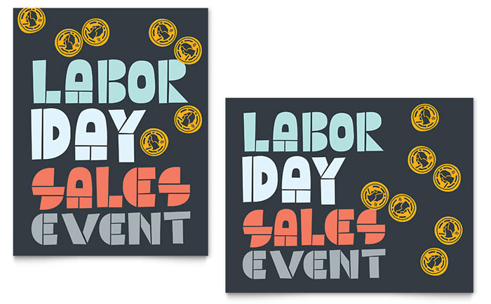 Labor Day Retail Sale Poster Sample