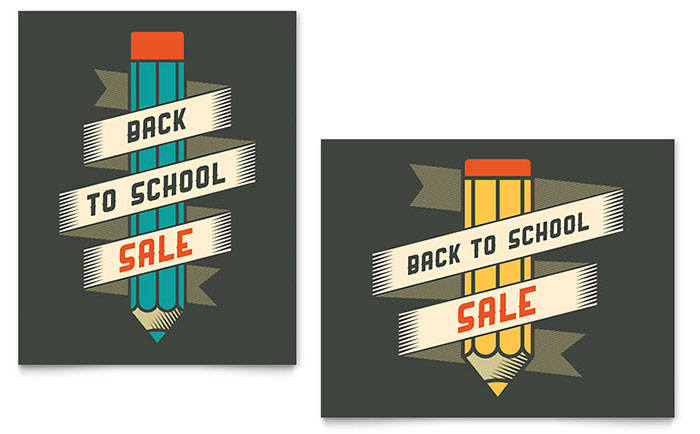 Back to School Sale Poster Example