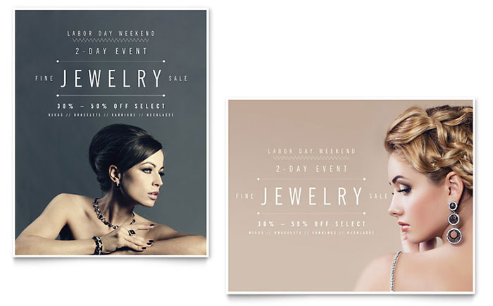 Fine Jewelry Store Flyer and Advertisements