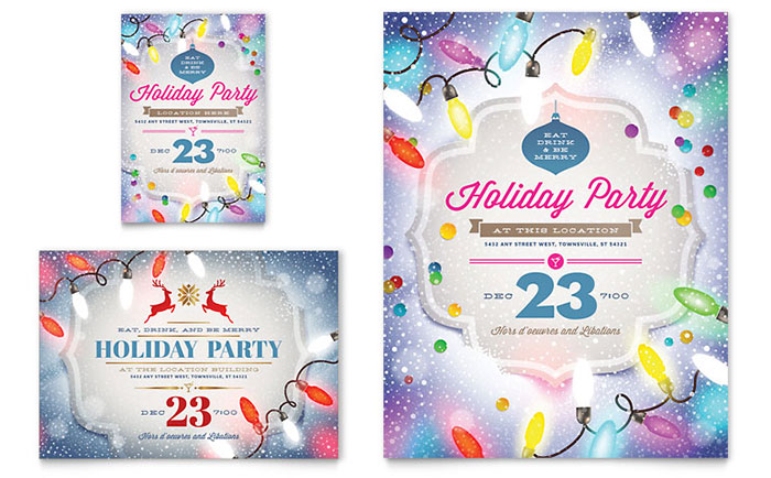 Office Christmas Party - Flyer Design Examples