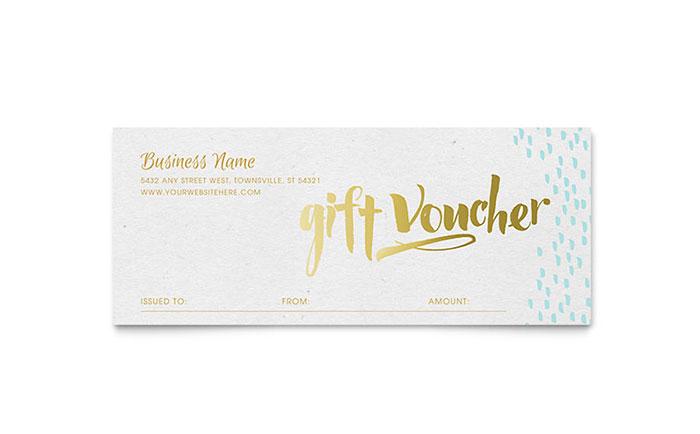 Elegant Gold Foil Gift Certificate Template Design