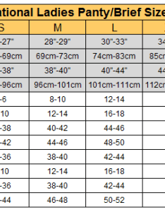 International ladies panty size chartg also sizes chart knowledge tailormax rh stockloter