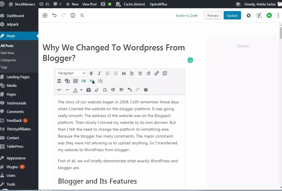 Why We Changed To WordPress From Blogger