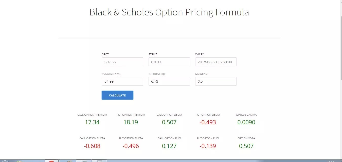 zerodha options calculator
