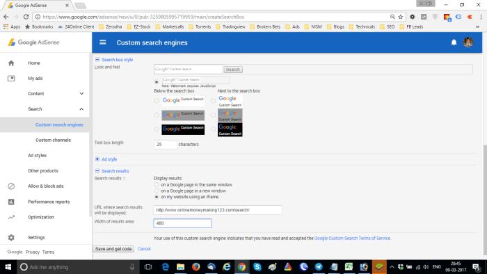 Add Google CSE In WordPress