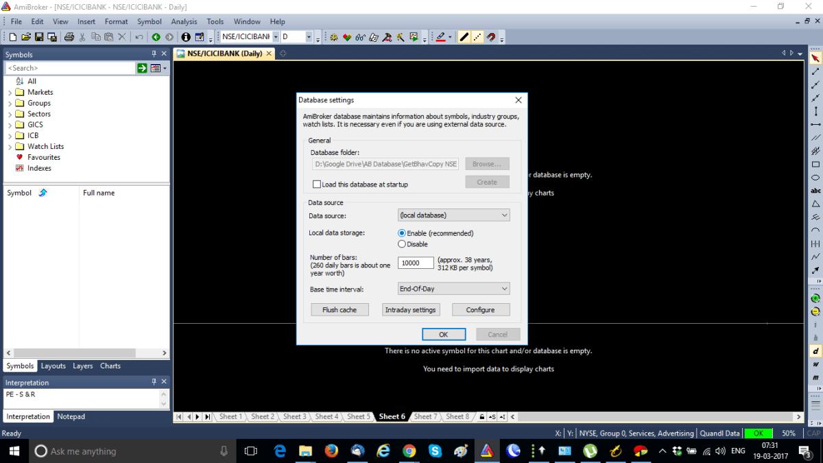 Amibroker NSE Database