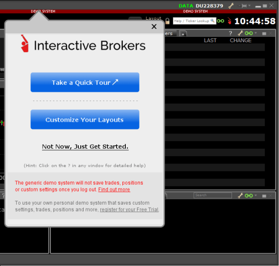 Interactive Brokers Tutorial