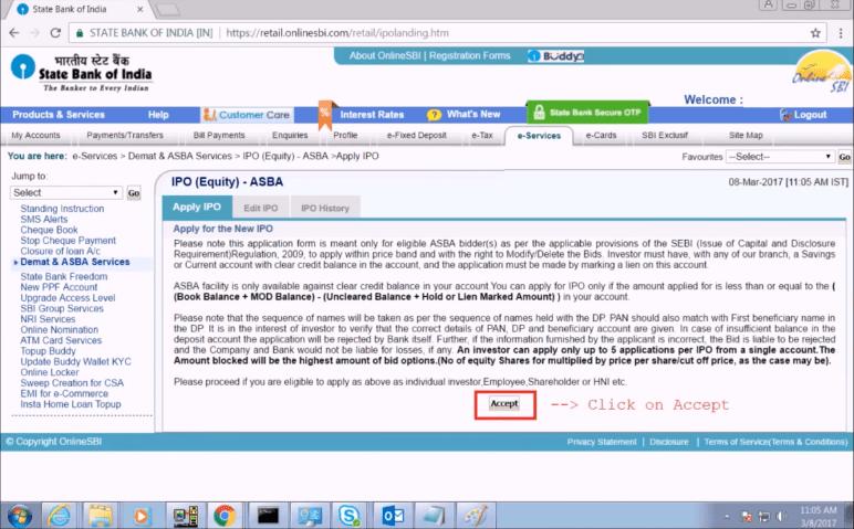 IPO Equity ASBA