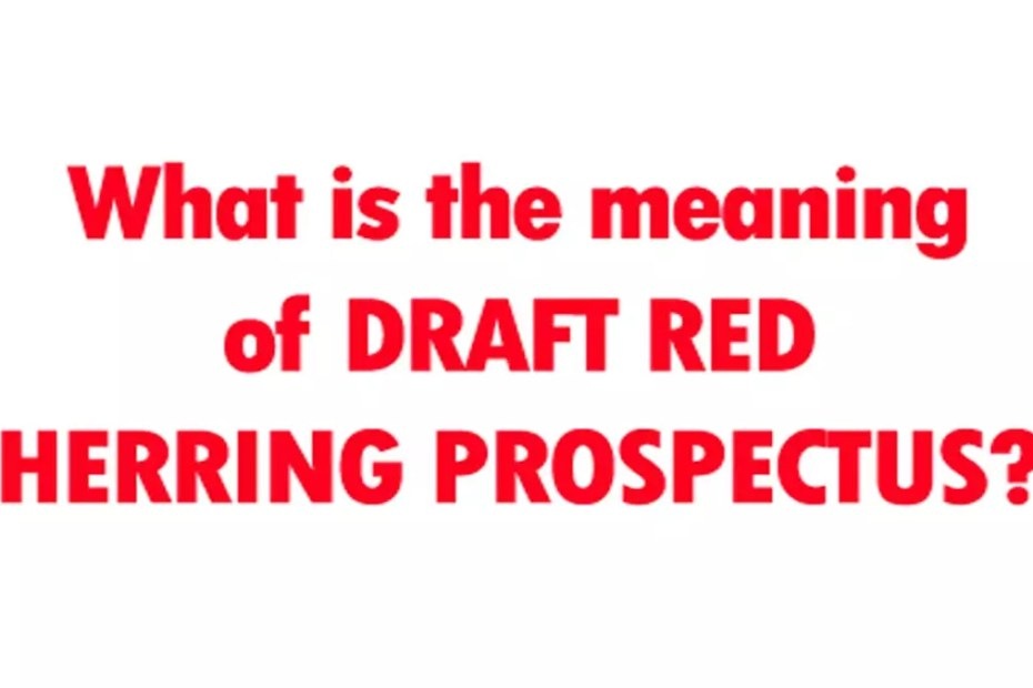 Draft Red Herring Prospectus