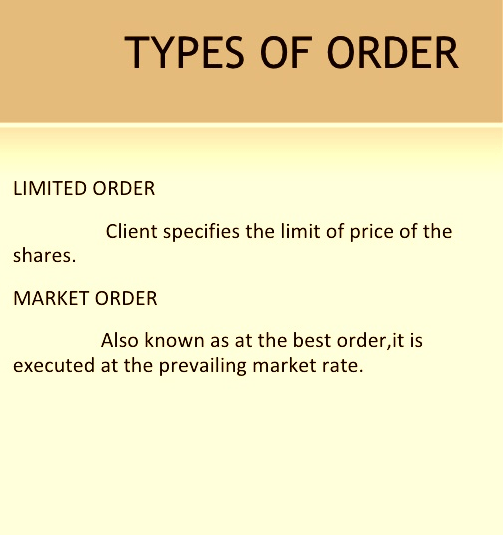 Different Types of Orders in Stock Market