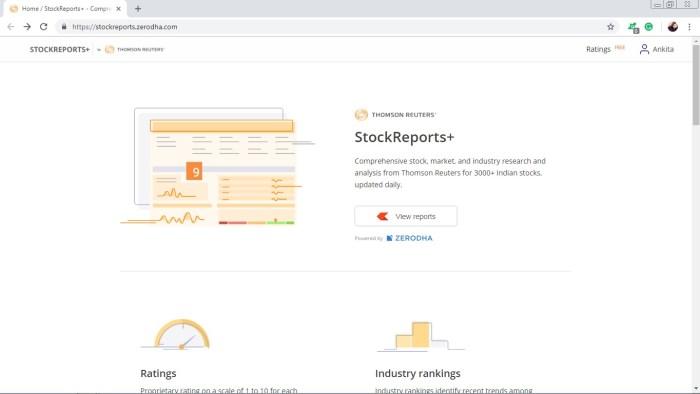 Stockreports Zerodha Review