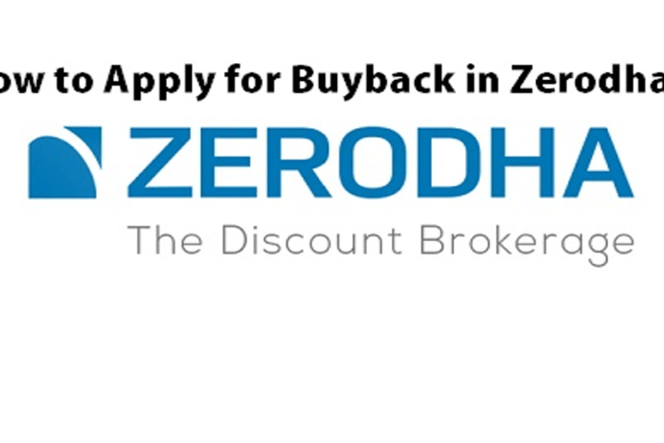 How to Apply for Buyback in Zerodha pic