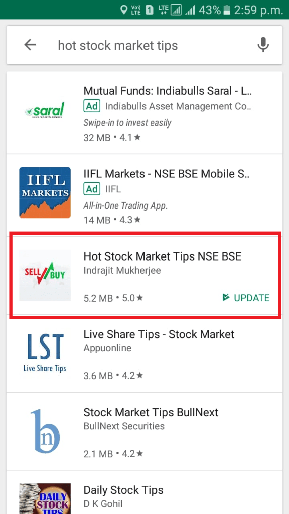Stock Market Intraday Tips App